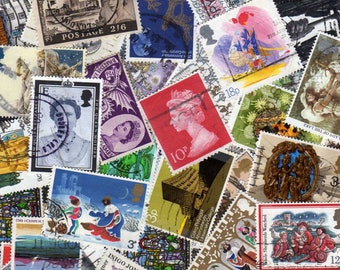 UK Stamps,50 Diff,British Stamps,All Large Stamps Commemoratives,UK Postage Stamps,British Postage Stamps,Great Britain Stamps