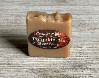 Beer Soap - Pumpkin - Natural Soap - Palm Free Soap - Handmade Soap - Cold Process - Essential Oil Soap