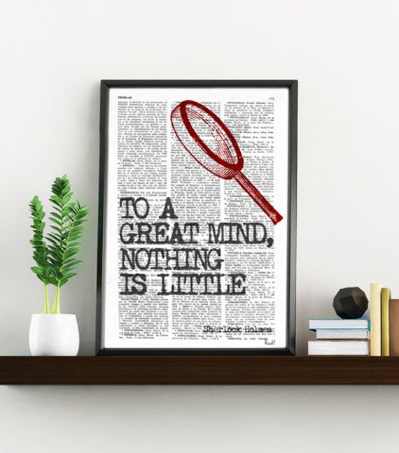 smart Quote Print, Sherlock holmes fan, Wall Decor, College Dorm Sherlock Poster Bedroom wall art Geek Poster print TYQ009