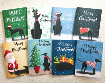 Greyhound Christmas Cards (digital download only)