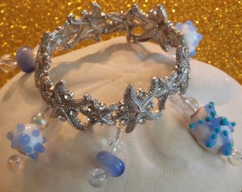 Lampwork Glass By The Sea Stretch Bracelet