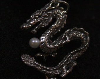 Dragon Sees Tail -  Sterling Silver Pendant