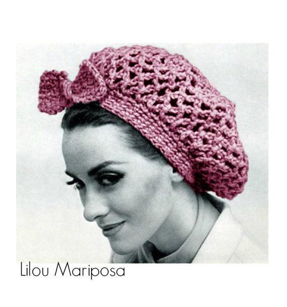 Crochet Hat Pattern Crochet Snood Pattern Crochet Hair Net Crochet