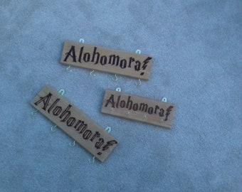 Harry Potter Pyrographed Alohomora Spell Key Rack Holder Organiser Sign House Warming Gift
