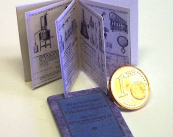 1117# Nostalgic little Chemistry book of 1920 - Doll house miniature in scale 1/12