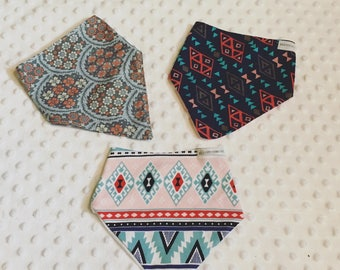 Set of three bib bandanas