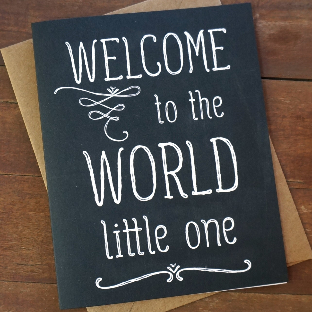 Welcome baby card welcome to the world baby shower card zoom kristyandbryce Choice Image