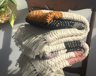 Handwoven Organic 100% Wool Baby Blanket