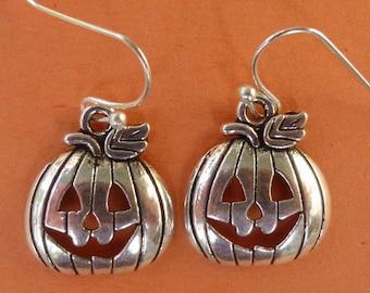 Pumpkin Jack-o-Lantern Earrings