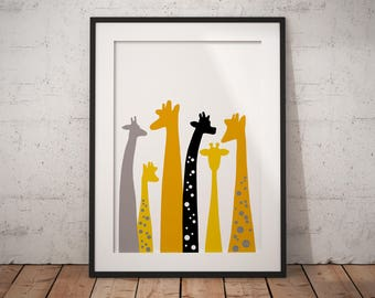 Nursery decor, nursery wall art, giraffe print, giraffe nursery, safari nursery, trending now, safari nursery decor, giraffe nursery decor