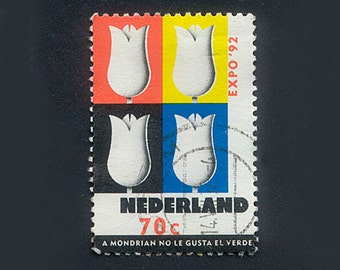 23 Dutch Postage Stamps - Holland - Collage, Mixed Media, Artist Trading Cards, ATCs