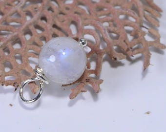 Moonstone Beads 8 mm Wire Wrapped Head Pin Silver wire