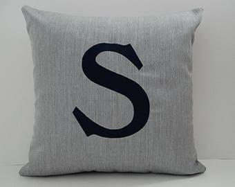 Pillow Cover | Initial Pillow | Monogrammed Pillow | Monogram Pillow Case | Home Decor | Sunbrella Pillow | Home and Living | Letter Pillow