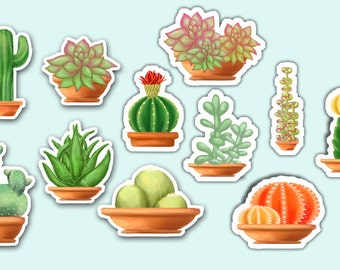 Cacti and Succulent Stickers