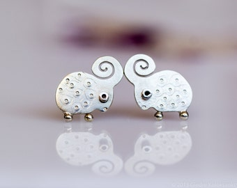 LAMB Earrings Sterling Silver Mini Zoo series