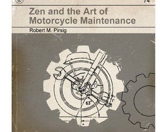 6x6 Zen and the Art of Motorcycle Maintenance - Vintage Book Cover Print