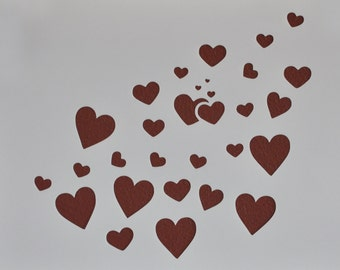 Heart Spray Stencil Template Scrapbooking Art Card Making