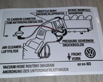 VW sticker 037010023 VAG Part
