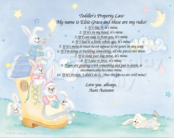 NEW!! Toddlers Property Laws Gift Card Keepsake Plus 4 more