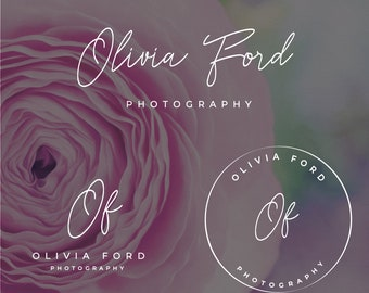 Logo Design, Premade Logo, Elegant Logo, Branding kit, Photographer Logo, Blog Logo, Business Card