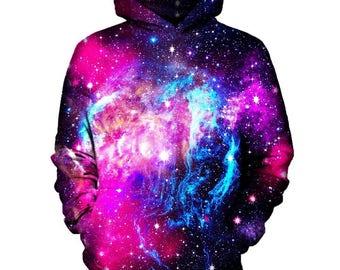 Pink Galaxy Hoodie | Rave, EDM, Festival Hoodie