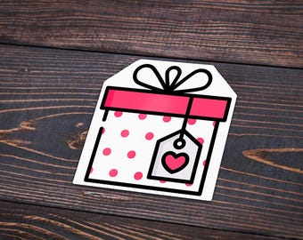 Pack of 4 Birthday Present Stickers