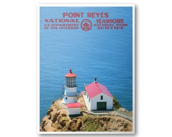 Point Reyes National Seashore Poster | WPA Poster | National Park Poster | National Park Postcard