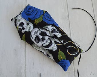Coffin wedding ring pillow. Gothic, Halloween, Alternative wedding.