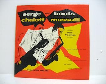 "Serge Chaloff and Boots Mussulli Jazz 10"" LP, Vinyl Record, DG Storyville STLP 310"
