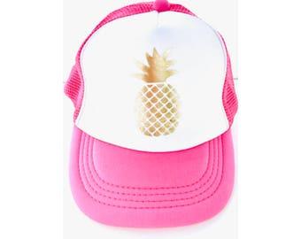 Kid Trucker Hat- Mesh Be A Pineapple trucker hat