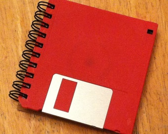 "Red 3.5"" Floppy Disk Notebook"