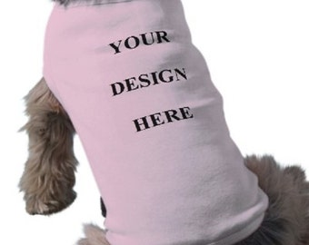 Dog T-Shirt - Custom Tee Shirt - Pink