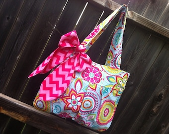Fabric Tote/Handbag/Hobo/Purse - The Rae Tote - over 200 Fabri Choices