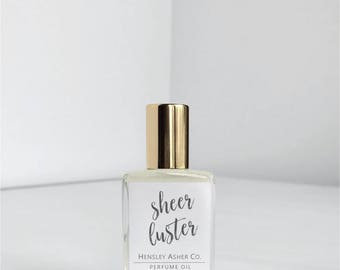 Sheer Luster - Natural Perfume Oil - Vegan Perfume- Jojoba Oil - Roll on Perfume - Roller ball perfume - Small Perfume