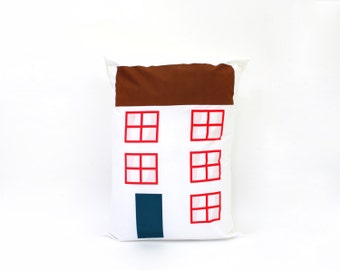 City House Pillow - Hand Screen-printed pillowcase