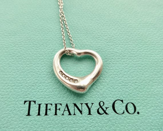 Authentic tiffany co elsa peretti open heart with five like this item aloadofball