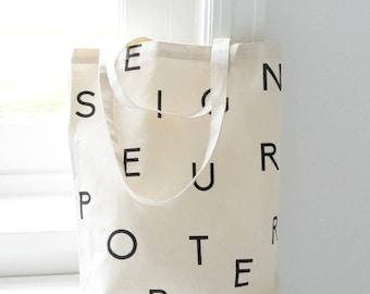 Shopper 100% Organic Cotton - Letters Seigneur Porter