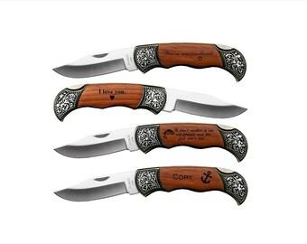 Gift for Him, Boyfriend, Husband, Father, Best Man Gift, Personalized Pocket Knife, Keepsake