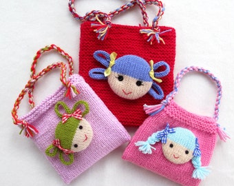 Jolly Dolly Bags - knitting patterns - INSTANT DOWNLOAD