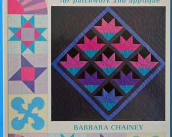 Quilt It! Book, Quilting, Patchwork, Applique, Barbara Chainey, Patterns, Blocks, Amish Quilts, Log Cabin,