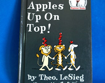 Dr Seuss Ten Apples Up On Top! Book - 1961 Dr Seuss Theo LeSieg Beginner Books Hardcover - Illustrated by Roy McKie
