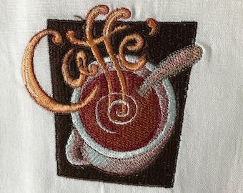 Caffe' Cup Tea Towel