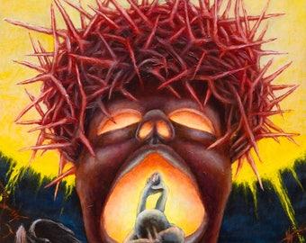 "Macabre art Creepy surreal print on canvas 40x24in"" Horror Beksinski Dark art Surrealism"