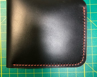 Famous Horween  Chromexcel Leather, Black, Deluxe Bifold  Wallet with Hidden Pockets
