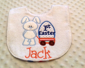My First Easter -Personalized Baby Boy Bib