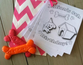 Puppy Party Dog Bone Crayons, Custom Colors- Great Party or Birthday Favor (12)