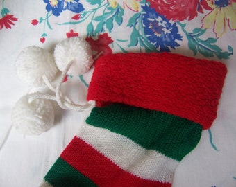 lovely striped christmas stocking