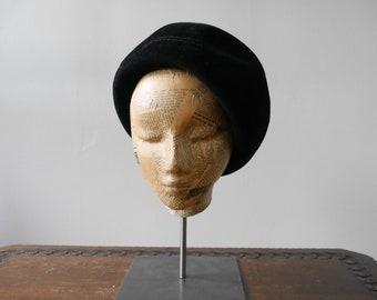 Original 50s Fur Felt Beret Hat Vintage