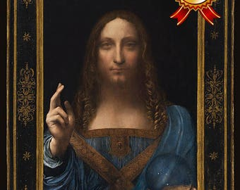 Salvator Mundi  ~ Savior of the World ~ Leonardo DaVinci *~ Fine Art Print - Wall Art Classic - Jesus Christ Painting - Religious Decor