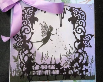 Fairy Birthday Card, Pixie Dust and Fairies Cards, Girls Birthday Card with Envelope.